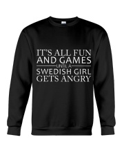 SWEDISH GIRL GETS ANGRY  Crewneck Sweatshirt thumbnail