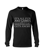 SWEDISH GIRL GETS ANGRY  Long Sleeve Tee thumbnail