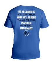 HE'S DRINKING V-Neck T-Shirt thumbnail