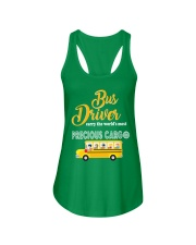 BUS DRIVERS CARRY THE MOST PRECIOUS CARGO Ladies Flowy Tank thumbnail