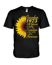 HAPPY BIRTHDAY 1973 45 YEARS V-Neck T-Shirt thumbnail