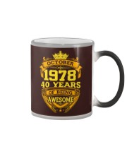 HAPPY BIRTHDAY OCTOBER 1978 Color Changing Mug thumbnail