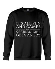 SERBIAN GIRL GETS ANGRY Crewneck Sweatshirt thumbnail