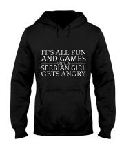 SERBIAN GIRL GETS ANGRY Hooded Sweatshirt thumbnail