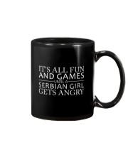SERBIAN GIRL GETS ANGRY Mug front