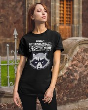 FUN FACT ABOUT RACCOON Classic T-Shirt apparel-classic-tshirt-lifestyle-06