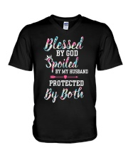 SPOILED BY MY HUSBAND V-Neck T-Shirt thumbnail