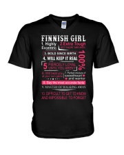 FINNISH GIRL V-Neck T-Shirt thumbnail