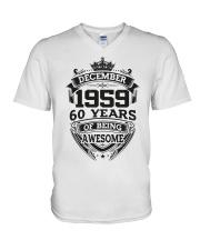 HAPPY BIRTHDAY DECEMBER 1959 V-Neck T-Shirt thumbnail