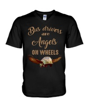 BUS DRIVERS ARE  ANGELS ON WHEELS V-Neck T-Shirt thumbnail