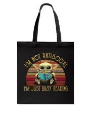 I'M NOT ANTISOCIAL Tote Bag thumbnail
