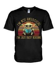 I'M NOT ANTISOCIAL V-Neck T-Shirt thumbnail