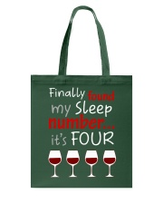 MY SLEEP NUMBER 4 CUPS Tote Bag thumbnail