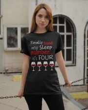 MY SLEEP NUMBER 4 CUPS Classic T-Shirt apparel-classic-tshirt-lifestyle-19