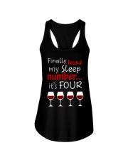 MY SLEEP NUMBER 4 CUPS Ladies Flowy Tank thumbnail