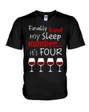 MY SLEEP NUMBER 4 CUPS V-Neck T-Shirt thumbnail