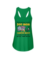 DOG MOM LOVES CAMPING Ladies Flowy Tank thumbnail