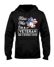 KISS ME VETERAN VETERAN'S SISTER Hooded Sweatshirt thumbnail