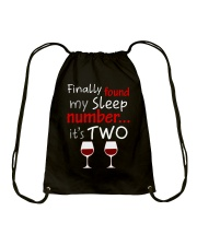 MY SLEEP NUMBER 2 CUPS Drawstring Bag thumbnail