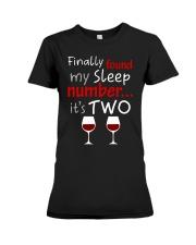 MY SLEEP NUMBER 2 CUPS Premium Fit Ladies Tee thumbnail