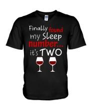 MY SLEEP NUMBER 2 CUPS V-Neck T-Shirt thumbnail