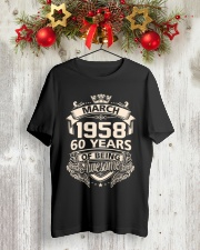 Happy Birthayday March 1958 Classic T-Shirt lifestyle-holiday-crewneck-front-2