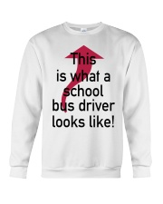 THIS IS WHAT A SCHOOL BUS DRIVER Crewneck Sweatshirt thumbnail
