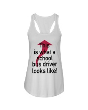 THIS IS WHAT A SCHOOL BUS DRIVER Ladies Flowy Tank thumbnail