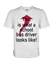 THIS IS WHAT A SCHOOL BUS DRIVER V-Neck T-Shirt thumbnail