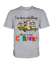 WHERE IS MY CAMPER V-Neck T-Shirt thumbnail