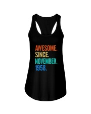 AWESOME SINCE NOVEMBER 1958 Ladies Flowy Tank thumbnail