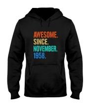 AWESOME SINCE NOVEMBER 1958 Hooded Sweatshirt thumbnail