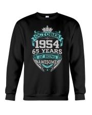 Birthday Gift October 1954 Crewneck Sweatshirt thumbnail