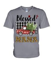 BLESSED NANA V-Neck T-Shirt thumbnail