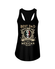 BEST DAD WAS BORN IN AUGUST Ladies Flowy Tank thumbnail