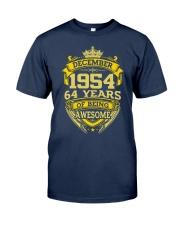 BIRTHDAY GIFT DEC 1954 Classic T-Shirt front
