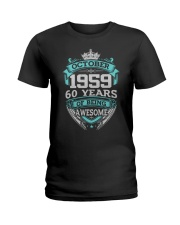 Birthday Gift October 1959 Ladies T-Shirt thumbnail