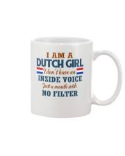A DUTCH GIRL WITH NO INSIDE VOICE Mug thumbnail