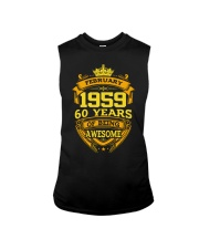 HAPPY BIRTHDAY FEBRUARY 1959 Sleeveless Tee thumbnail