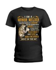 I'M A WOMAN WELDER  Ladies T-Shirt thumbnail