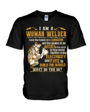 I'M A WOMAN WELDER  V-Neck T-Shirt thumbnail