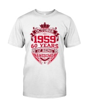 HAPPY BIRTHDAY OCTOBER 1969 Classic T-Shirt front
