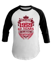 HAPPY BIRTHDAY OCTOBER 1969 Baseball Tee thumbnail