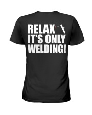 HOW TO WELDER RELAX Ladies T-Shirt thumbnail