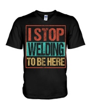 STOP WELDING TO BE HERE V-Neck T-Shirt thumbnail