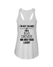 BUS DRIVER DON'T YELLING JUST TALK LOUD Ladies Flowy Tank thumbnail
