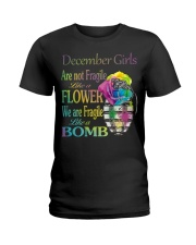 DECEMBER GIRLS ARE LIKE BOMBS Ladies T-Shirt thumbnail