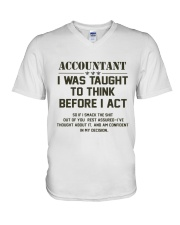 ACCOUNTANTS EDITION V-Neck T-Shirt front
