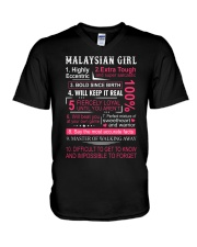 MALAYSIAN GIRL V-Neck T-Shirt thumbnail
