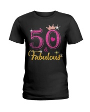 HAPPY BIRTHDAY 50 AND FABULOUS Ladies T-Shirt thumbnail